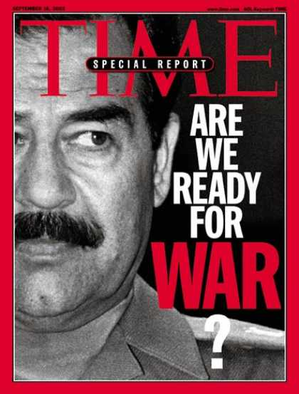Time - Saddam Hussein - Sep. 16, 2002 - Iraq - Middle East