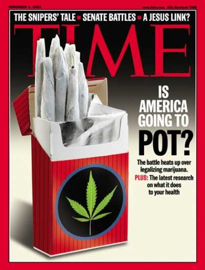 Time - Legalizing Marijuana - Nov. 4, 2002 - Drug Abuse - Law - Health & Medicine