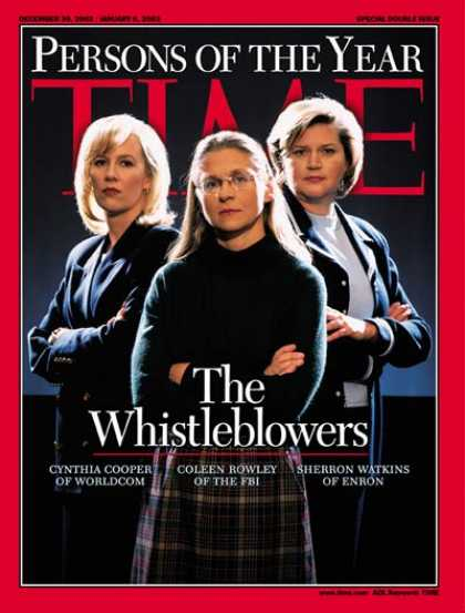 Time - The Whistleblowers, Person of the Year - Dec. 30, 2002 - Person of the Year - Wo
