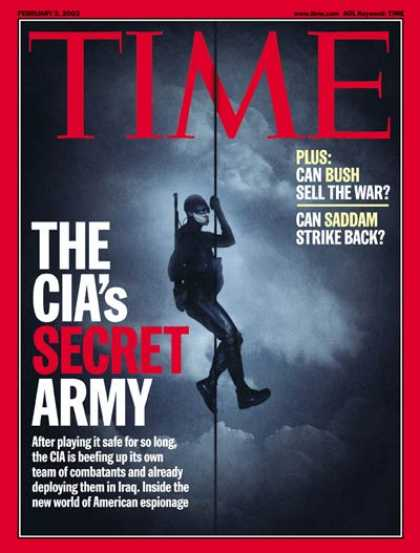 Time - The CIA's Secret Army - Feb. 3, 2003 - CIA - Military - Terrorism - Intelligence