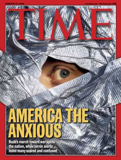 Time - Living in Terror - Feb. 24, 2003 - Terrorism