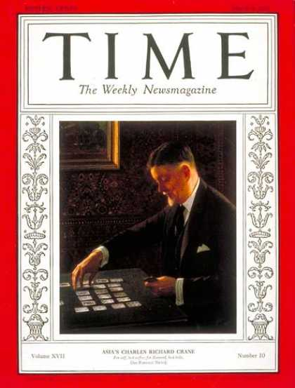 Time - Charles R. Crane - Mar. 9, 1931 - Diplomacy - Business