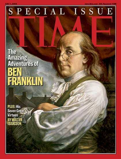 Time - The Amazing Adventures of Ben Franklin - July 7, 2003 - Ben Franklin - Politics