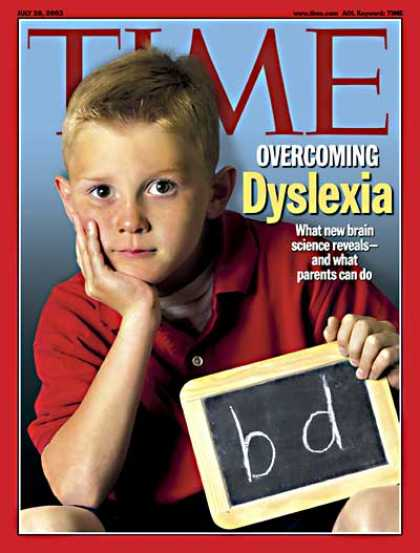 Time - Overcoming Dyslexia - July 28, 2003 - Learning Disabilities - Education