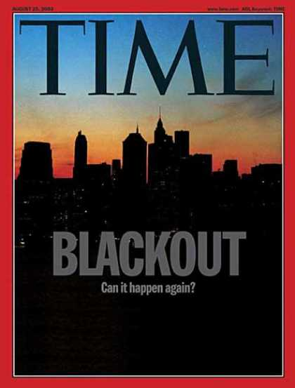 Time - Blackout - Aug. 25, 2003 - Electricity - Energy - New York