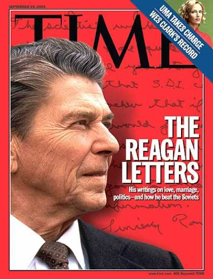 Time - The Reagan Letters - Sep. 29, 2003 - Ronald Reagan - U.S. Presidents - Politics