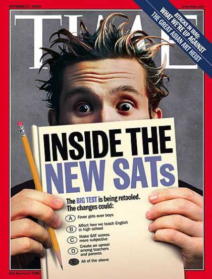 Time - Inside the New SATs - Oct. 27, 2003 - Schools - Testing - Education