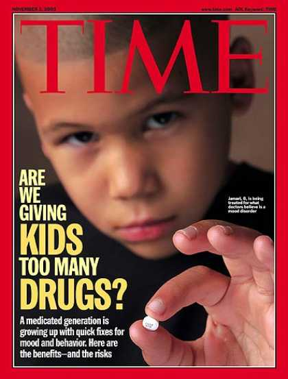Time - Medicating Young Minds - Nov. 3, 2003 - Children - Medications - Health & Medici