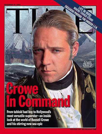 Time - Crowe in Command - Nov. 10, 2003 - Actors - Movies