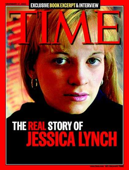Time - The Real Story of Jessica Lynch - Nov. 17, 2003 - Iraq - Military - Middle East