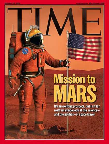 Time - Mission to Mars - Jan. 26, 2004 - NASA - Mars - Astronauts - Space Exploration -