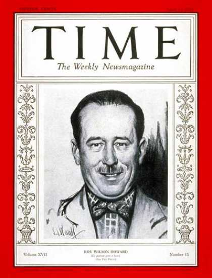 Time - Roy W. Howard - Apr. 13, 1931 - Publishing - Business