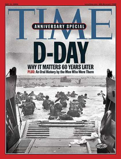 Time - D-Day - May 31, 2004 - World War II - Military