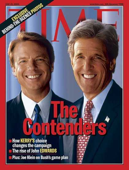 Time - The Contenders - July 19, 2004 - John Kerry - John Edwards - Democrats - Electio