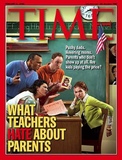 Time - What Teachers Hate About Parents - Feb. 21, 2005 - Schools - Children - Educatio