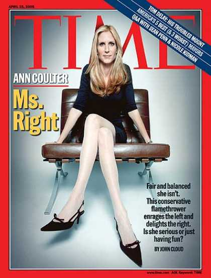 Time - Ann Coulter: Ms. Right - Apr. 25, 2005 - Media