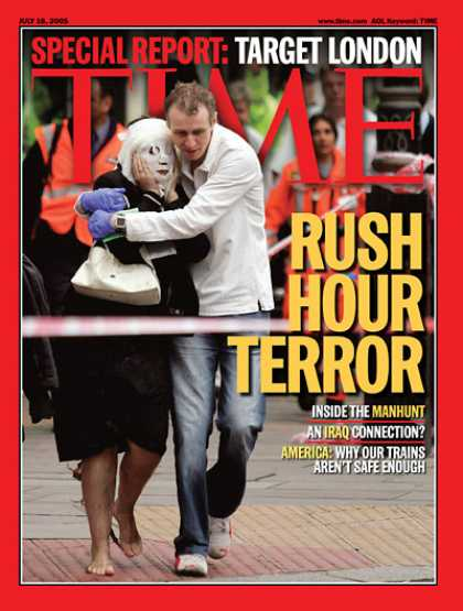 Time - Rush Hour Terror - July 18, 2005 - Terrorism - Great Britain