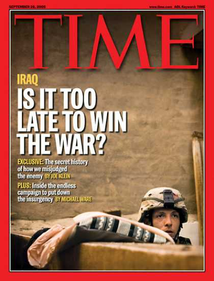 Time - Is It Too Late To Win the War? - Sep. 26, 2005 - Iraq - Terrorism - Middle East