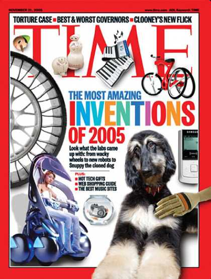 Time - The Most Amazing Inventions of 2005 - Nov. 21, 2005 - Inventions - Innovation -