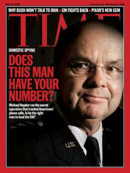 Time - Does This Man Have Your Number? - May 22, 2006 - CIA - Espionage - Terrorism - P