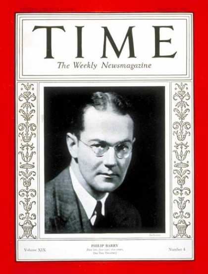 Time - Philip Barry - Jan. 25, 1932 - Theater