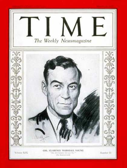 Time - Colonel Clarence Young - Mar. 14, 1932 - Aviation - Politics