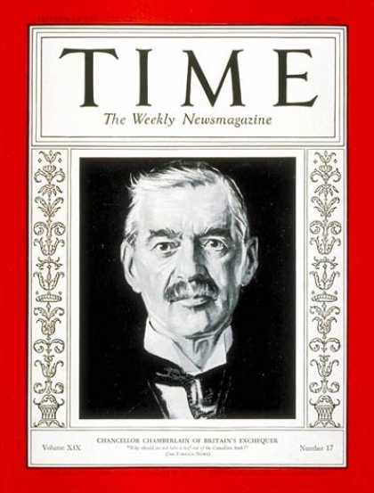 Time - Neville Chamberlain - Apr. 25, 1932 - Great Britain - Prime Ministers