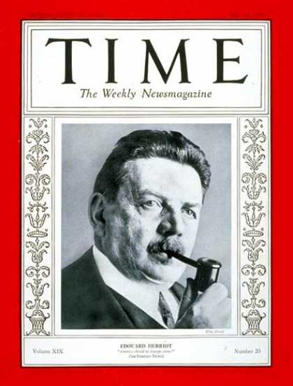 Time - Edouard Herriot - May 16, 1932 - France