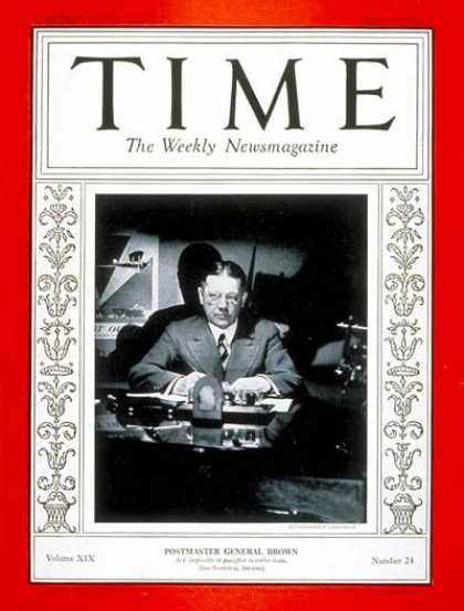 Time - Walter F. Brown - June 13, 1932 - Politics