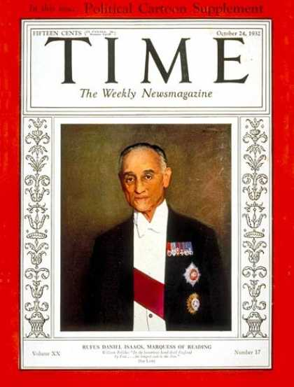 Time - Rufus D. Isaacs - Oct. 24, 1932 - Great Britain