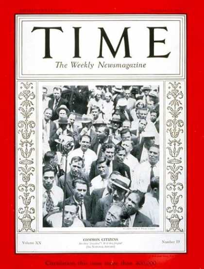 Time - Common Citizens - Nov. 7, 1932 - Society