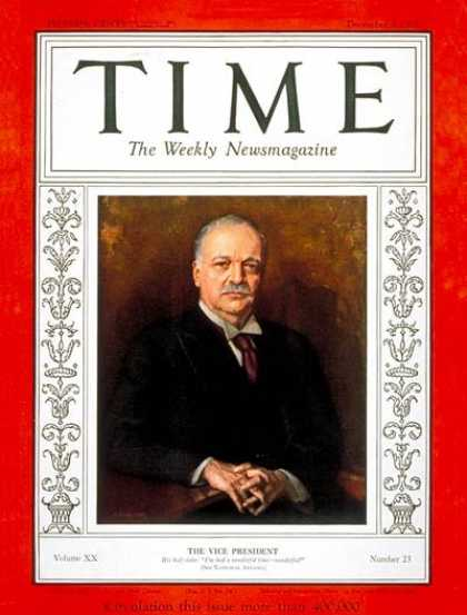 Time - Charles Curtis - Dec. 5, 1932 - Vice Presidents - Politics