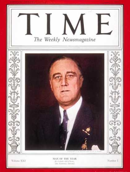 Time - Franklin D. Roosevelt, Man of the Year - Jan. 2, 1933 - Franklin D. Roosevelt -