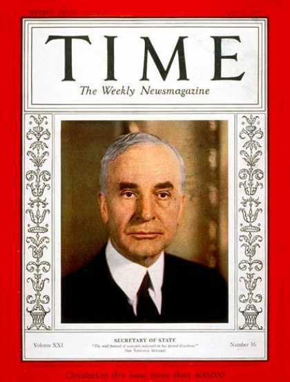 Time - Apr. 17, 1933 - Diplomacy - United Nations - Politics
