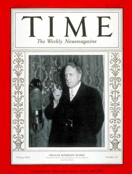 Time - William R. Hearst - May 1, 1933 - Business - Publishing - Politics