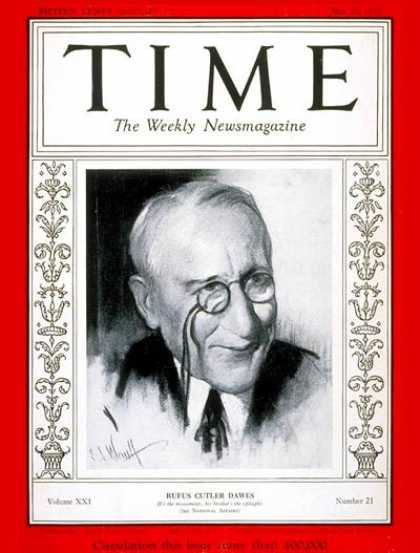 Time - Rufus C. Dawes - May 22, 1933 - Business
