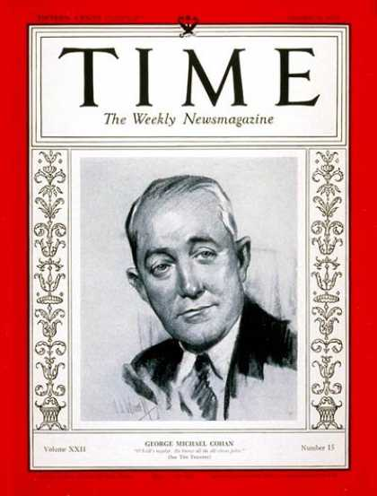 Time - George M. Cohan - Oct. 9, 1933 - Theater - Composers - Music