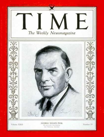 Time - George N. Peek - Nov. 6, 1933 - Politics