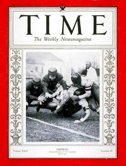 Time - Football - Nov. 13, 1933 - Sports