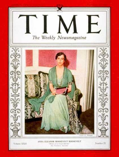 Time - Eleanor Roosevelt - Nov. 20, 1933 - First Ladies