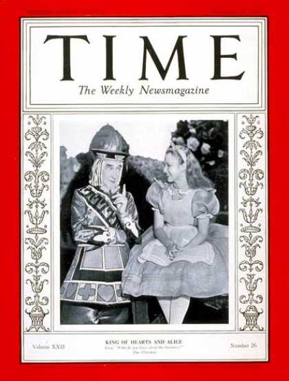 Time - Alice in Wonderland - Dec. 25, 1933 - Movies