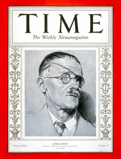 Time - James Joyce - Jan. 29, 1934 - Books