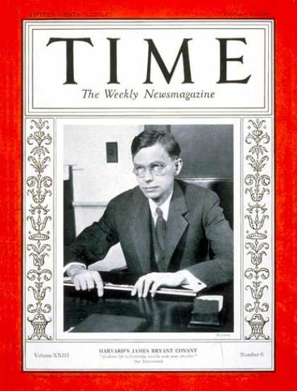 Time - James B. Conant - Feb. 5, 1934 - World War I - Army - Politics