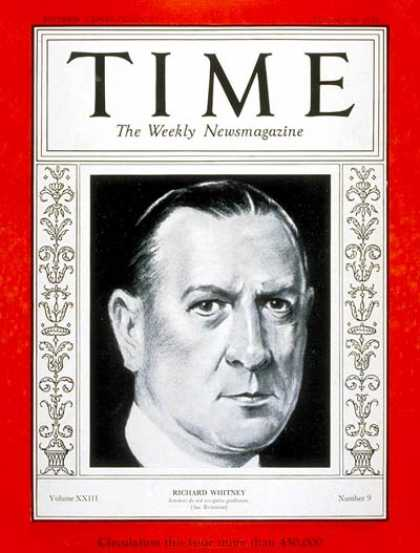 Time - Richard Whitney - Feb. 26, 1934 - Painters - Art