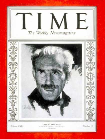 Time - Arturo Toscanini - Apr. 2, 1934 - Conductors - Classical Music - Music