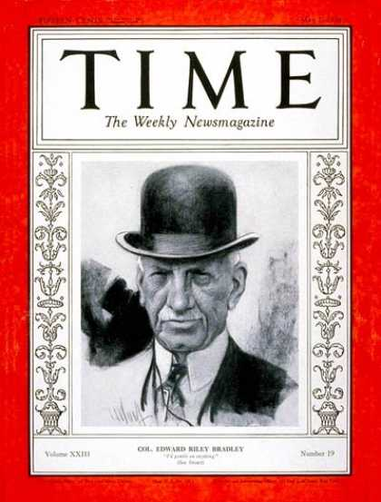 Time - Colonel Edward R. Bradley - May 7, 1934 - Horse Racing - Sports