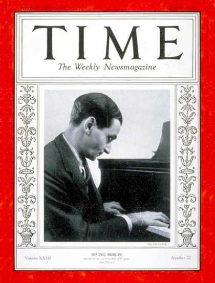 Time - Irving Berlin - May 28, 1934 - Composers - Theater - Music - Broadway