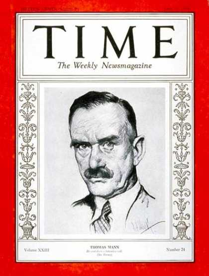 Time - Thomas Mann - June 11, 1934 - Books - Germany