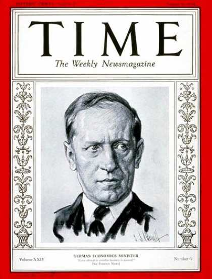 Time - Dr. Kurt Schmitt - Aug. 6, 1934 - Germany - Health & Medicine