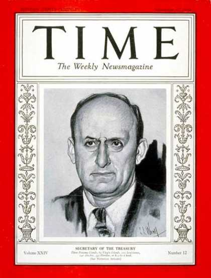 Time - Henry Morgenthau - Sep. 17, 1934 - Finance - Politics